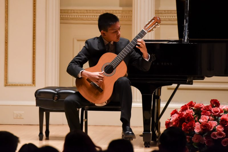 Grade 8 classical guitarist performs at Carnegie Hall