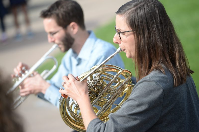 Emerald Brass Quintet visits Harker, offers advice to students