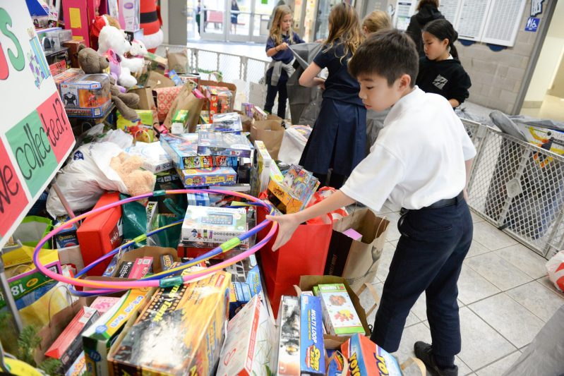 Nearly 600 toys collected in grade 4 toy drive