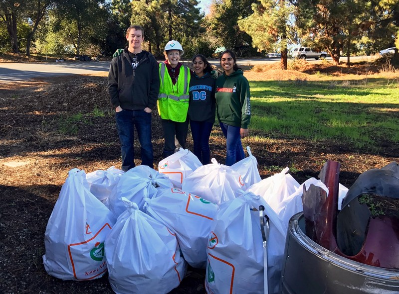 Harker contingent joins Adopt-A-Highway in trash cleanup