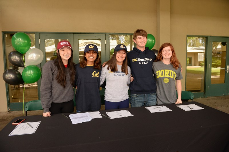 Five Harker athletes to continue their sports in college