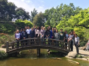 Middle school Japanese language students visit Hakone Gardens