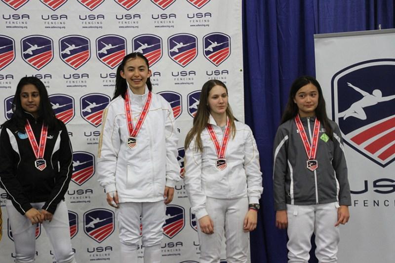 Kudos: Swordswomen garner medals and points at National Fencing Championships