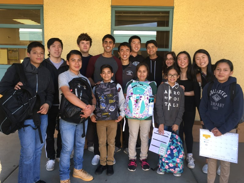 Student-led effort provides school supplies for East San Jose school