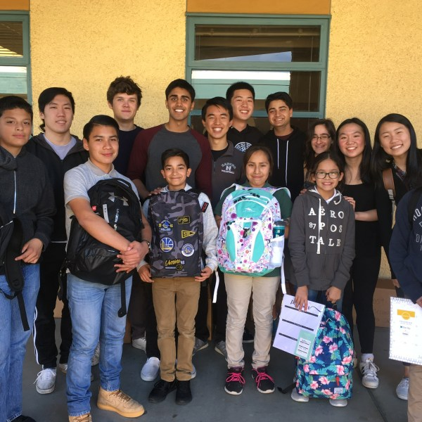 Student-led effort donates school supplies to East San Jose school