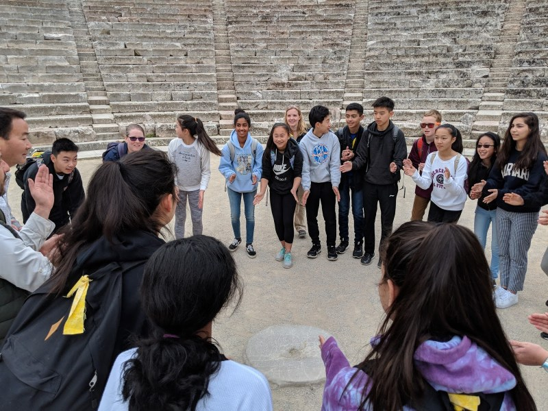 Middle school trek through Greece gives students firsthand look at country's history and culture