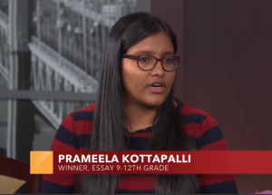 Junior Prameela Kottapalli wins Best in Class for essay in Growing Up Asian in America contest