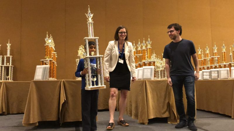 Grade 1 chess player places first in K-1 group at National Elementary Championship