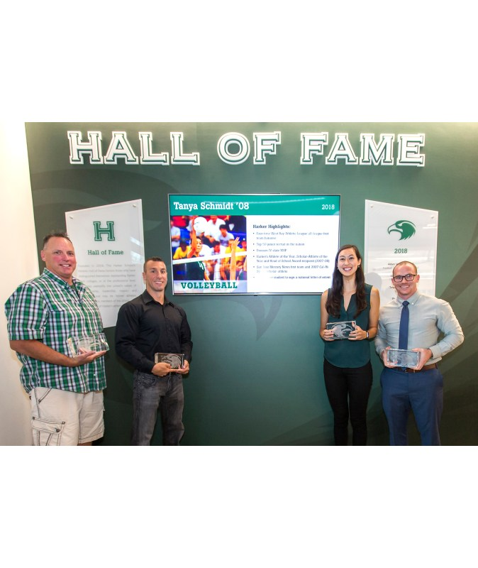 Harker opens Athletic Hall of Fame, inducts three athletes and one super fan