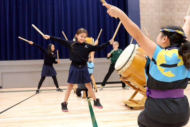 Lower school taiko assemblies entertain and educate