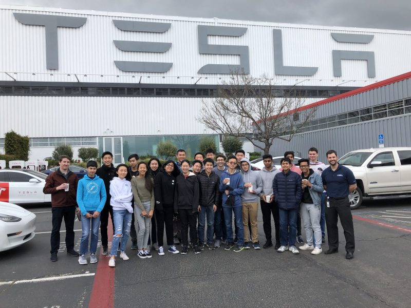 DECA group visits Tesla factory, takes away interesting impressions