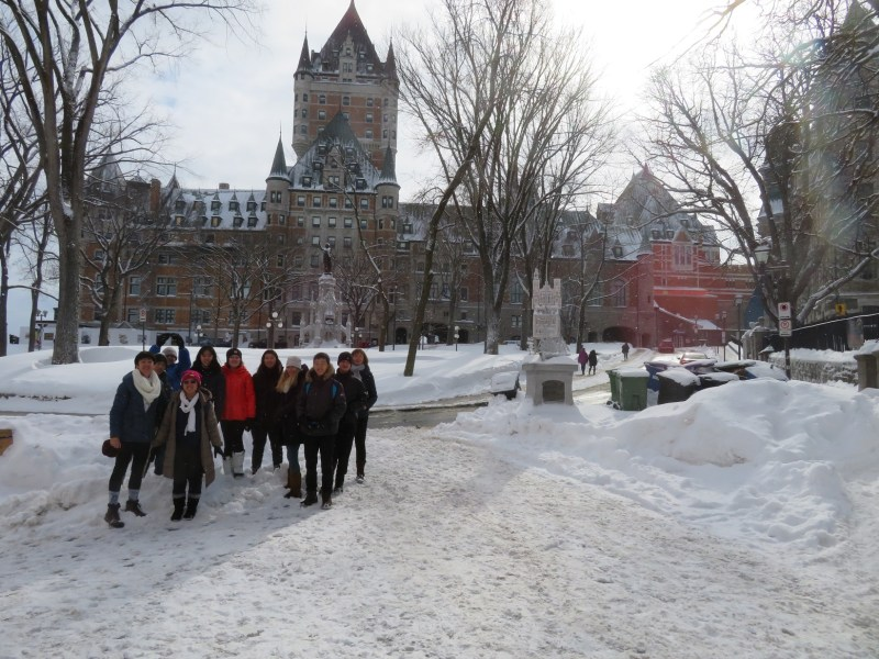 Students learn about Quebecois culture and history on inaugural trip
