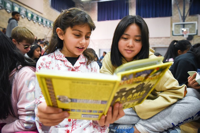 Lower school celebrates another successful pajama and book drive
