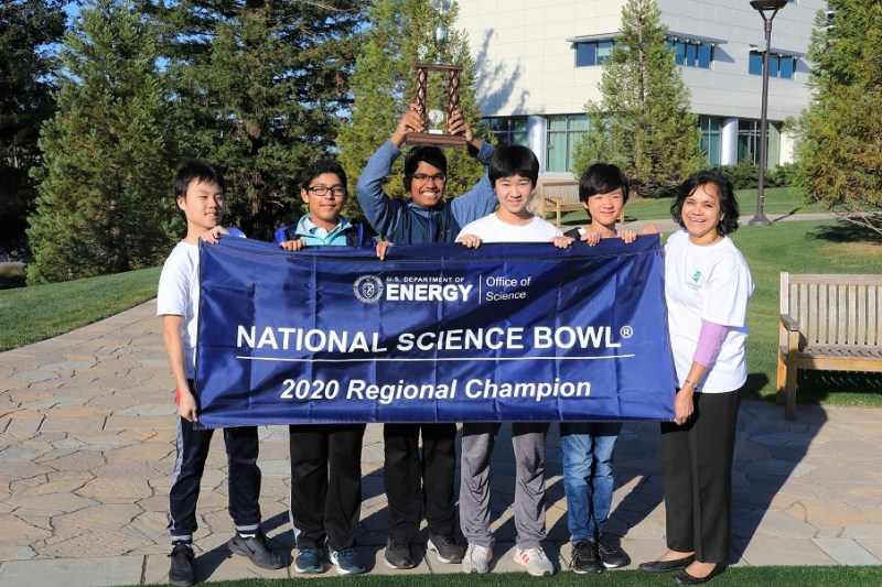 Middle school Science Bowl team takes regional, headed to national finals