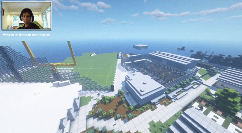 Students recreate upper school campus in Minecraft