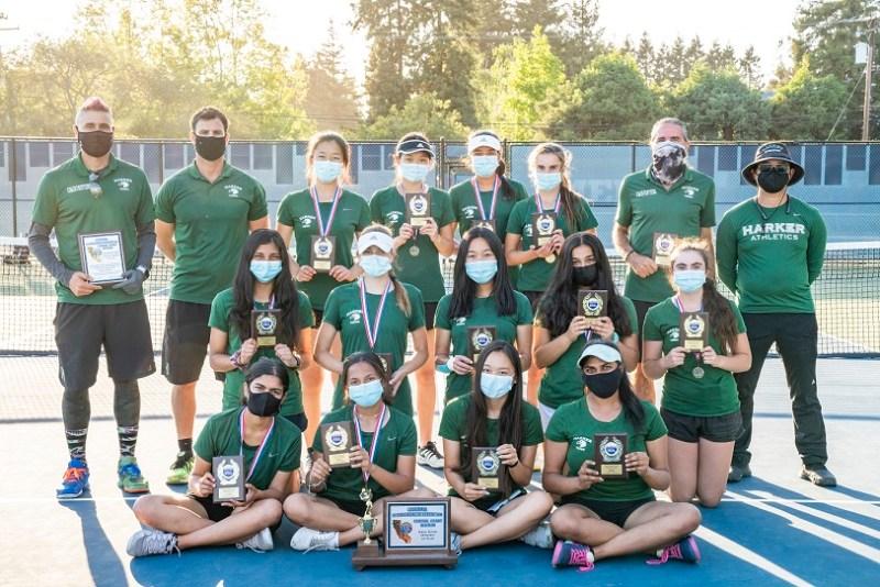 Girls tennis wins first team CCS championship, Chung '21 wins swimming titles
