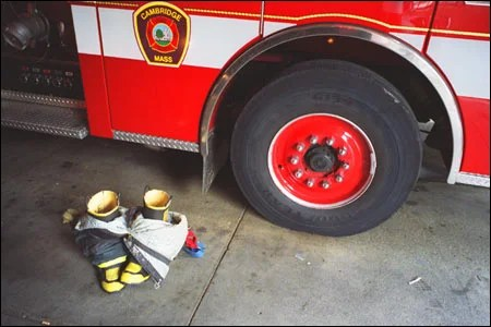 Firefighting boots and pants