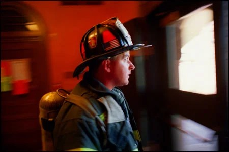 Firefighter Chuck Anderson