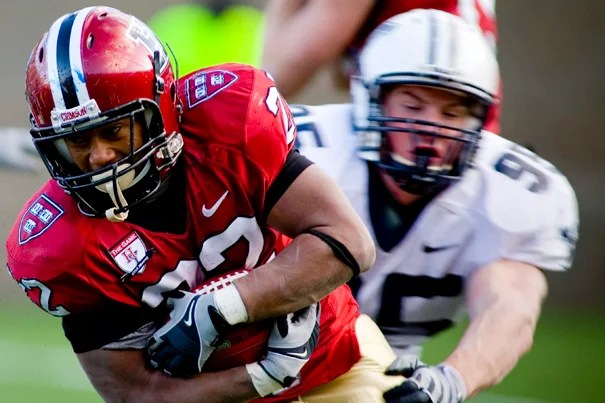 Running back Gino Gordon '11 ran for a game-high 137 yards on 22 carries against Cornell on Oct. 10 in the Crimson's 28-10 win over the Big Red.