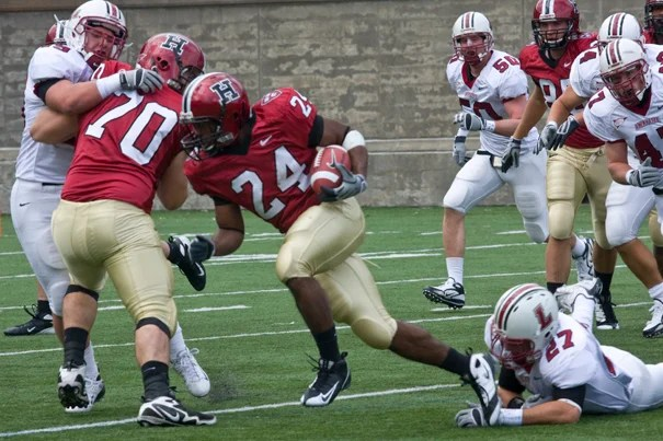 Running back Treavor Scales '13 (#24), who ran for 485 yards and five touchdowns on 108 carries, was named the 2009 Ivy Rookie of the Year.
