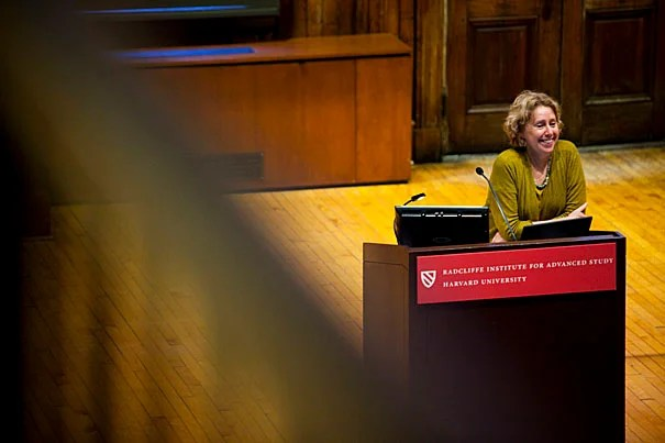"""Robin Fleming, a one-time junior fellow in the Harvard University Society of Fellows, is using her year as a Radcliffe Fellow to finish her third book, """"Living and Dying in Early Medieval Britain."""" She recently gave a lecture on economic calamity in early medieval Britain, and how people in desperate straits turned to """"recycling"""" Roman ruins for what they needed."""