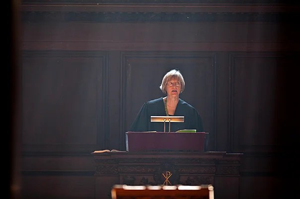 "During Morning Prayers in Appleton Chapel, President Drew Faust challenged both the University and its students to continue working to ensure that students of ""every race, gender, and circumstance"" know that they belong in the Harvard community."