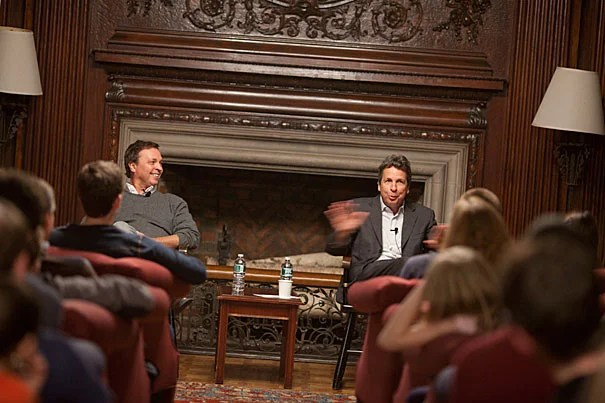 "Peter (left) and Bobby Farrelly entertained Kirkland House in the popular series ""Conversations with Kirkland."""