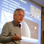 """""""If there ever was a moment to think about the origins of life, it surely is now,"""" said Ralph Pudritz in his talk """"Equipping Planets for Life."""" Pudritz spoke at one of the regular forums sponsored by Harvard's Origins of Life Initiative."""