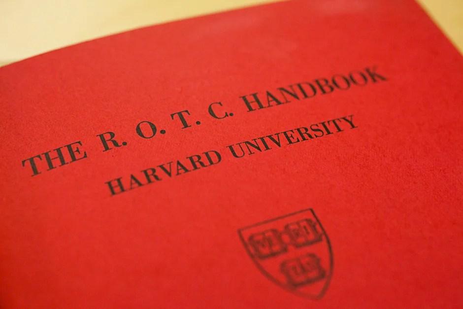 The ROTC Handbook for Harvard University in 1942. Stephanie Mitchell/Harvard Staff Photographer