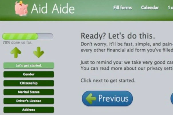 Aid Aide's creator, Zachary Hamed, hopes to generate revenue on the site through ads and lead generation by partnering with banks or student loan organizations.