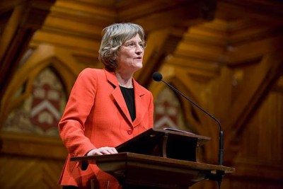 """Drew Gilpin Faust is a pathfinder, as a scholar and a leader in higher education. This distinguished historian has revealed for us the lives and minds of those confronted by the turbulent social changes of the Civil War era, and then proceeded to apply extraordinary administrative skills to leadership of one of the world's premier academic institutions,"" said National Endowment for the Humanities Chairman Jim Leach."