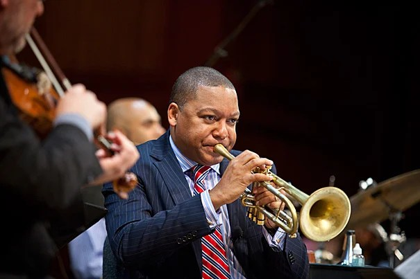 """Music is the art of the invisible,"" said Wynton Marsalis. ""It gives shape and focus to our innermost inclinations, and can clearly evidence our internal lives with shocking immediacy."" Marsalis was on campus to kick off a two-year performance and lecture series, speaking on a variety of topics to illuminate the relationship between American music and the American identity."
