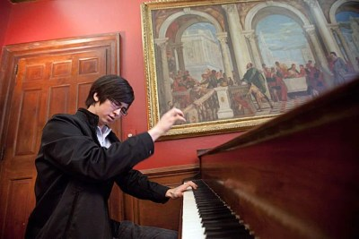 While Charlie Albright '11 completes his master's degree at the New England Conservatory, he'll remain at Harvard as Leverett House's artist in residence.