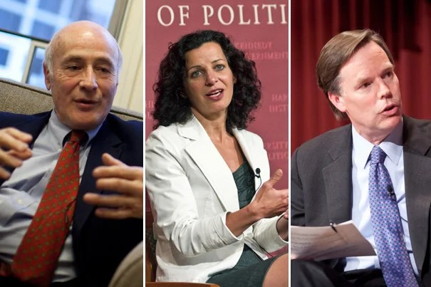 Joseph S. Nye Jr. (from left), Juliette Kayyem, and R. Nicholas Burns offer their perspectives on the death of Osama bin Laden and what it means for U.S. foreign policy and the future of Islamic nations.