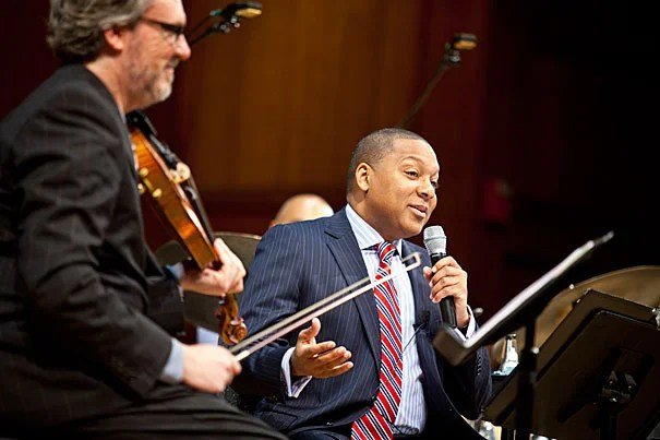 "Wynton Marsalis' second lecture, ""The Double Crossing of a Pair of Heels: The Dynamics of Social Dance and American Popular Musics,"" will be at Sanders Theatre on Sept. 15. Marsalis' lecture will be accompanied by performances by acclaimed dance professionals Jared Grimes, Nelida Tirado, Eddie Torres Jr., Heather Gehring, and Lou Brockman."