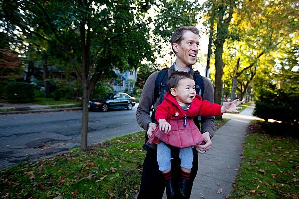 """""""We do our own vetting and work with people to see if it's a good fit,"""" said WATCH user Charles Davis, professor of organismic and evolutionary biology, with son Leo. """"But having [access to] the local community and parents in a similar boat is more comforting in terms of making that choice."""""""