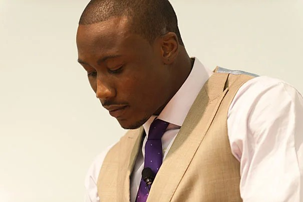 """The things that made me special, the things that made me relevant and successful are the same things that began to ruin me,"" Miami Dolphins wide receiver Brandon Marshall told a Harvard audience."