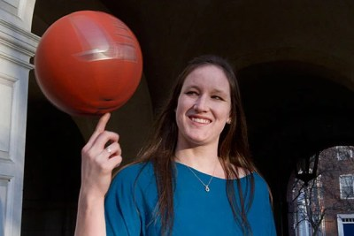 """Crimson forward Victoria Lippert, who left sunny San Diego three years ago to take up residence in chilly Cambridge, """"hasn't looked back since."""" Now she's set to surpass the 1,000-point mark this spring."""