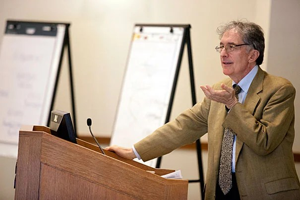 "Findings from Howard Gardner's GoodWork Project showed that good work shared three fundamental qualities: technically excellent, personally engaging, and ethical. It also required a certain alignment — a sense that ""everybody involved in the enterprise wants the same thing,"" the Harvard professor told his Law School audience."