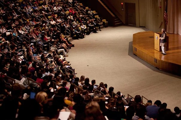 """All human beings are entrepreneurs, with no exceptions whatsoever,"" Nobel Peace Prize winner Muhammad Yunus told his Harvard Business School audience. ""Human creativity has no limit,"" he said. ""It's only a question of how we apply it."""