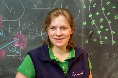 "Jenny Hoffman, associate professor in the Department of Physics, said that she is flattered to receive this year's Abramson Award, but she's not entirely comfortable with the term ""teaching."" ""It's kind of a funny word,"" said Hoffman, who teaches ""Wave Phenomena"" and has created the freshman seminar ""Building a Scanning Tunneling Microscope."" ""Students do the learning. I try to guide them and to provide an environment that fosters self-confidence and curiosity. But the most important learning happens outside of the classroom, when they work together in the lab or on the problem sets."""
