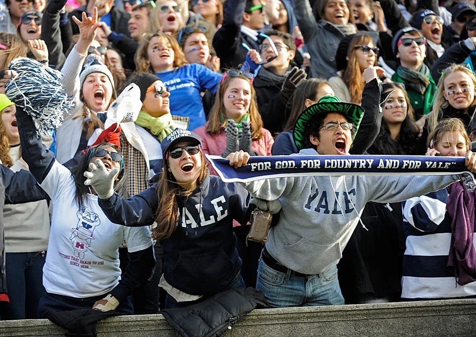 Yale fans had something to cheer about early, but needed consoling by game's end in 2010, as Harvard won, 28-21.