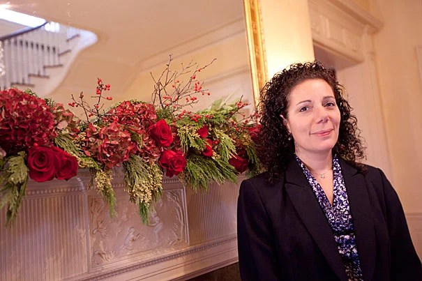 """Madeline Meehan, Harvard's director of events for Campus Services, helped to turn her mother's labor of love, """"We Care Blankets,"""" into something all of Harvard could support through Community Gifts. The nonprofit charity provides handmade blankets to children who are going through chemotherapy at Harvard-affiliated hospitals."""