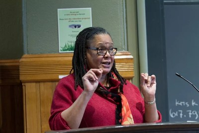 """All humans have differences. Why is it so hard to leave it at that? Why can't that answer be the definitive end one about our differences?"" wondered Harvard College Dean Evelynn M. Hammonds at a Sever Hall book talk on Friday."
