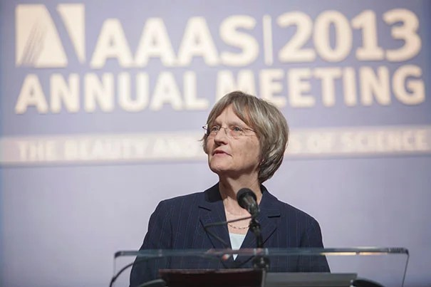 """In addressing the American Association for the Advancement of Science, Harvard President Drew Faust said, """"We must secure the federal research support critical to the future of our nation and of the world."""""""