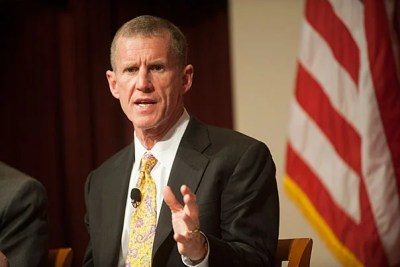 """When we send young people away, we're responsible for them,"" Gen. Stanley McChrystal told a packed audience during a discussion of veterans' policies at the John F. Kennedy Jr. Forum. ""Not to give them something, but to give them an opportunity to continue to serve, give them a place to fit in."""