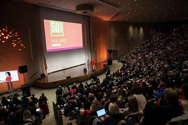 On Thursday and Friday, about 800 of Harvard Business School's roughly 11,000 alumnae — including some of those intrepid early graduates — descended on the Allston campus for the start of the W50 Summit, two days of reflection, celebration, and brainstorming on women's experiences at HBS and beyond.