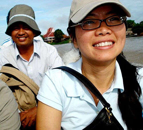 """We have people say: 'We want to know what happened to our family,' "" said Phuong Pham, a research scientist at Harvard (pictured in Cambodia in 2008). Pham and fellow Harvard researcher Patrick Vinck have been conducting surveys of Cambodians' attitudes toward trials of former Khmer Rouge officials. The trials — Extraordinary Chambers in the Courts of Cambodia — are currently under way."