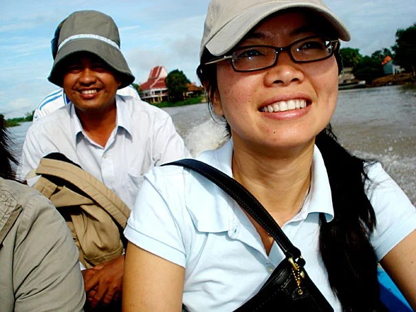 """""""We have people say: 'We want to know what happened to our family,' """" said Phuong Pham, a research scientist at Harvard (pictured in Cambodia in 2008). Pham and fellow Harvard researcher Patrick Vinck have been conducting surveys of Cambodians' attitudes toward trials of former Khmer Rouge officials. The trials — Extraordinary Chambers in the Courts of Cambodia — are currently under way."""