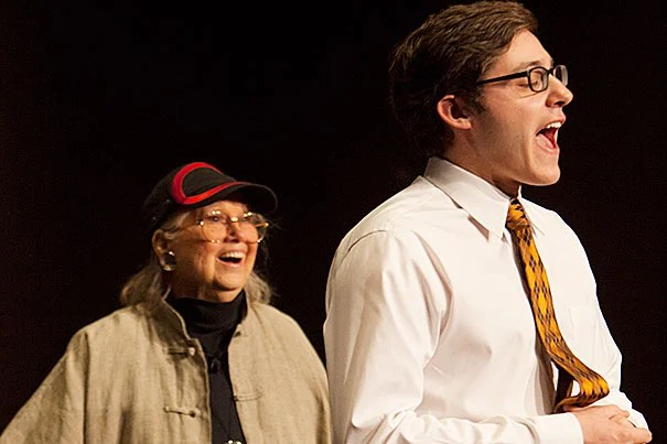 """Barbara Cook encouraged Jeremy Venook '15 to """"embrace who you are"""" after he performed """"Lucky to Be Me"""" from """"On the Town."""" """"Let us in!"""" and """"Tell us about it, don't sing about it, fill it in!"""" The result was a breakthrough for Venook, who received a lengthy ovation from the audience."""
